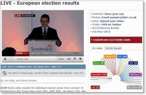 欧州議会選挙、開票中。英メディ...